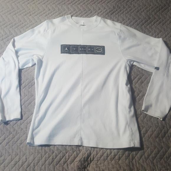 04f743ef127 Jordan Shirts   Two 3 23 Twenty Three Fleece Top White M   Poshmark